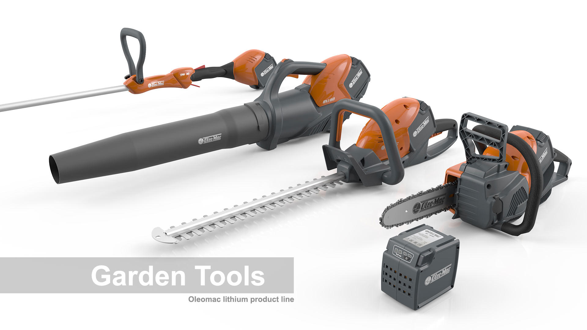 AMV Design Oleo-Mac electrical gardening tools
